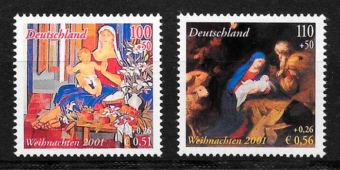 filatelia colección emisiones conjunta Alemania 2001