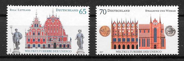 filatelia colección emisiones conjunta Alemania 2007