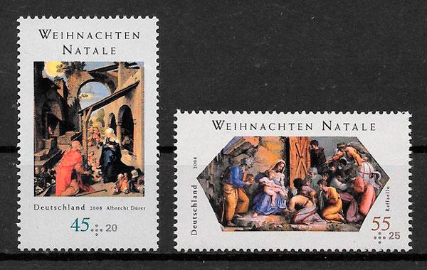 filatelia colección emisiones conjunta Alemania 2008