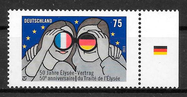 filatelias emisiones conjunta Alemania 2013