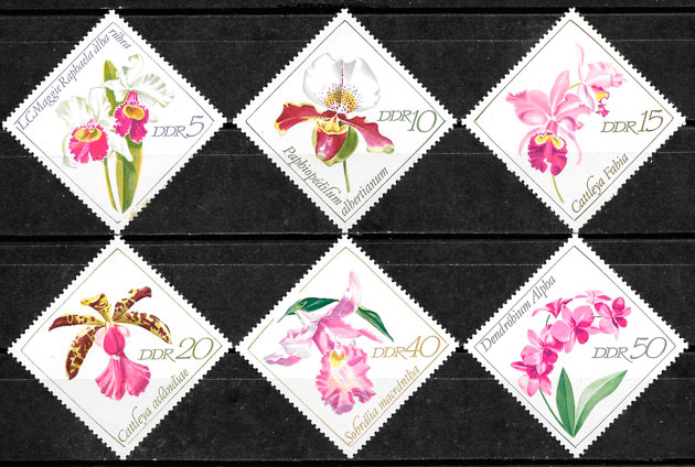 filatelia orquídeas Alemania DDR 1968