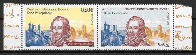 sellos emisiones conjunta Andorra Francesa 2012
