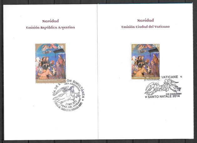 sellos emisiones conjunta Argentina 2014