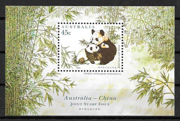 filatelia emisiones conjunta Australia 1995