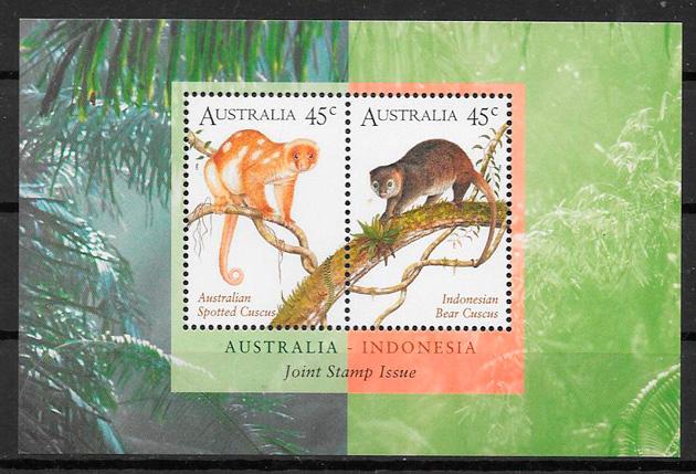 colección sellos emisiones conjuntas Australia 1996