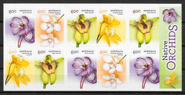 sellos orquídeas Australia 2014
