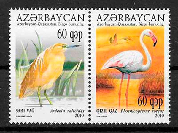 sellos emisiones conjunta Azerbaiyán 2009