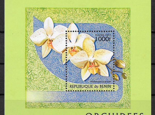 filatelia orquídeas Benin 1997