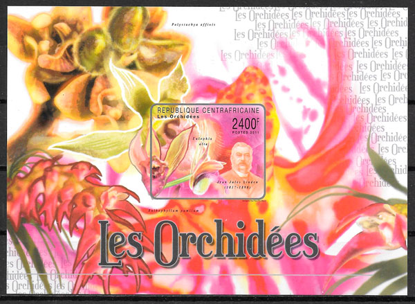 sellos orquídea Centro África 2011