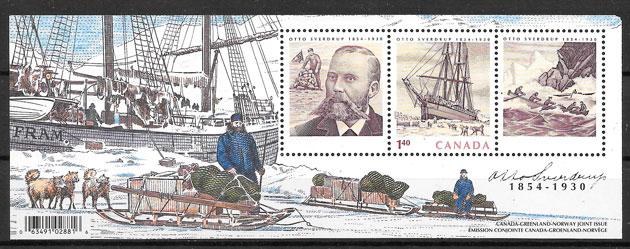 sellos emisiones conjunta Canadá 2004