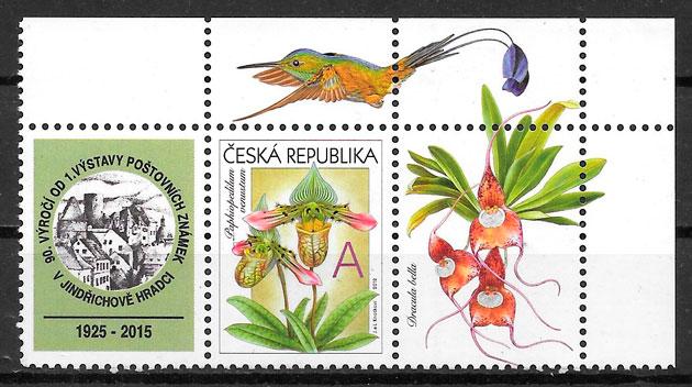 filatelia colección orquideas Chequia 2012