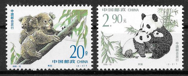 filatelia colección emisiones conjunta China 1995