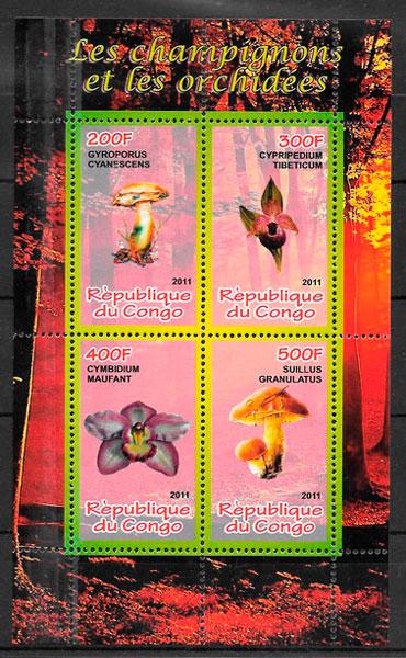 sellos orquídeas Congo 2007