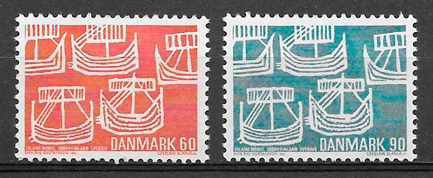 sellos emisiones conjunta Dinamarca 1969