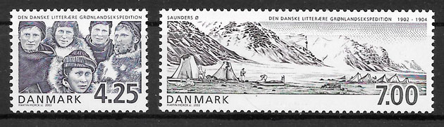 filatelia emisiones conjunta Dinamarca 2003