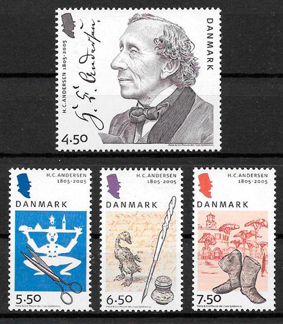 sellos emisiones conjunta Dinamarca 2005