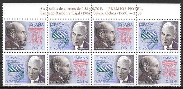sellos emisiones conjunta España 2003