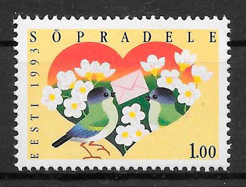 sellos emisiones conjunta Estonia 1993