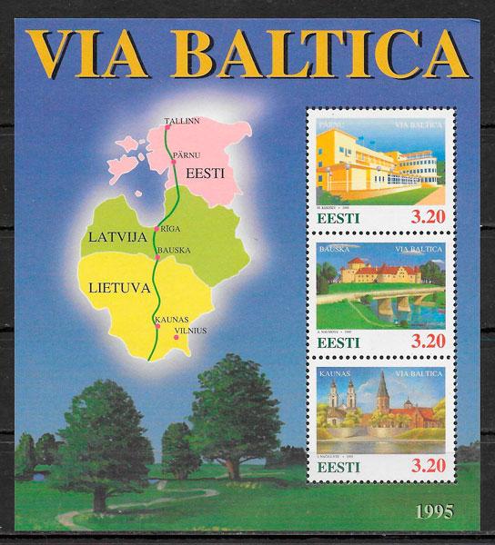sellos emisiones conjunta Estonia 1995