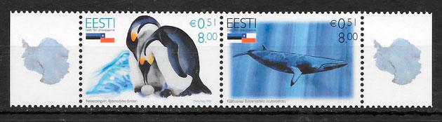 colección sellos emisiones conjunta Estonia 2007