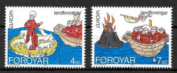 filatelia emisiones conjunta Feroe 1994