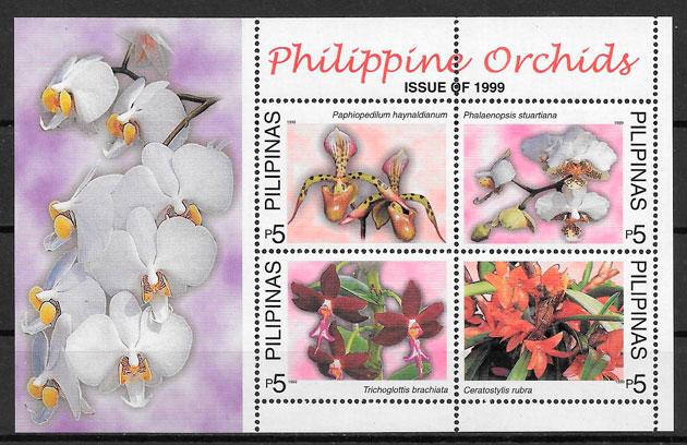 sellos orquídeas Filipinas 1999