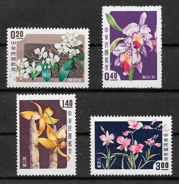 sellos orquídeas Formosa 1958