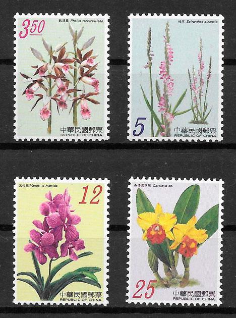 colección sellos orquídeas Formosa 2007