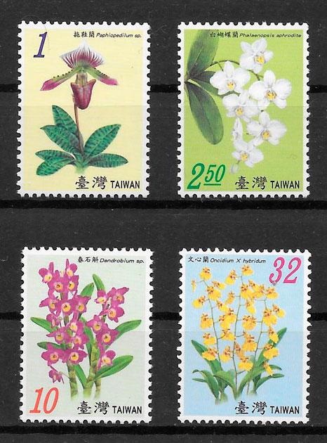 filatelia colección orquídeas Formosa 2007