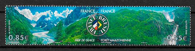 filatelia colección emisiones conjunta Francia 2008