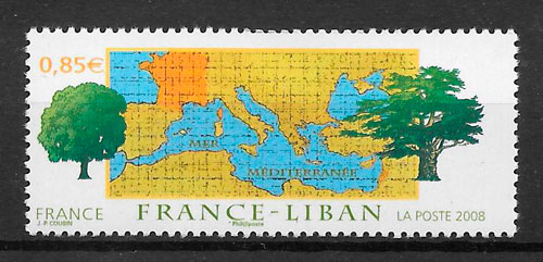 colección sellos emisiones conjunta Francia 2008