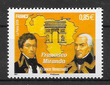 colección sellos emisiones conjunta Francia 2009