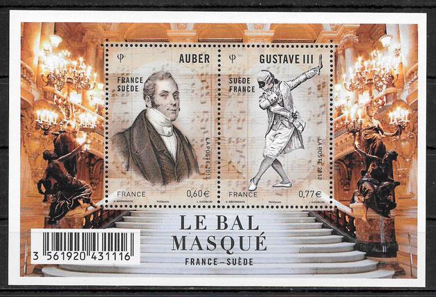 filatelia colección emisiones conjunta Francia 2012