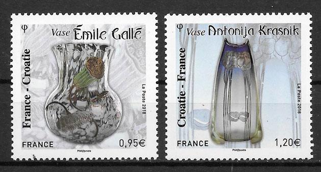 colección sellos Francia emisiones conjunta 2018
