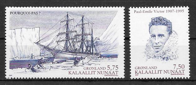 filatelia colección emisiones conjunta Groenlandia 2006