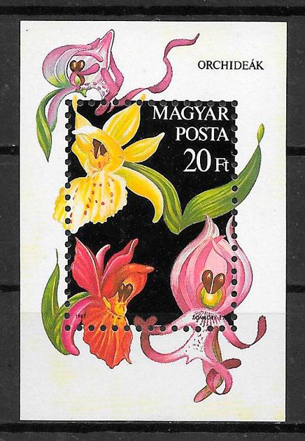 sellos orquídeas 1987
