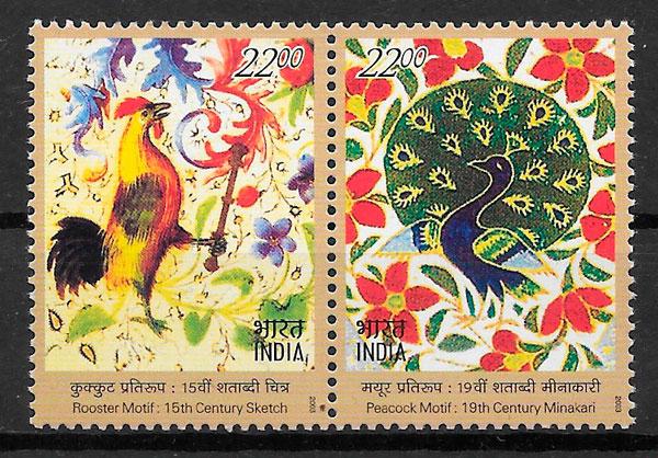 filatelia emisiones conjunta 2003 India