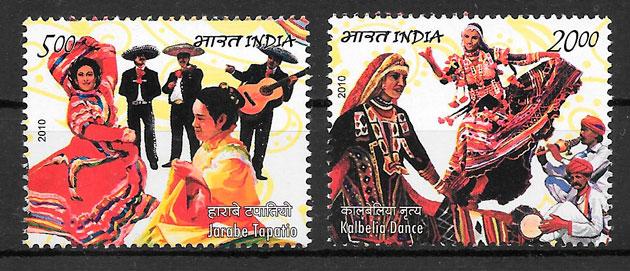 colección sellos emisiones conjunta India 2010