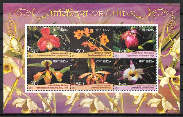 sellos orquideas India 2016