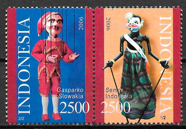 filatelkia emisiones conjunta Indonesia 2006