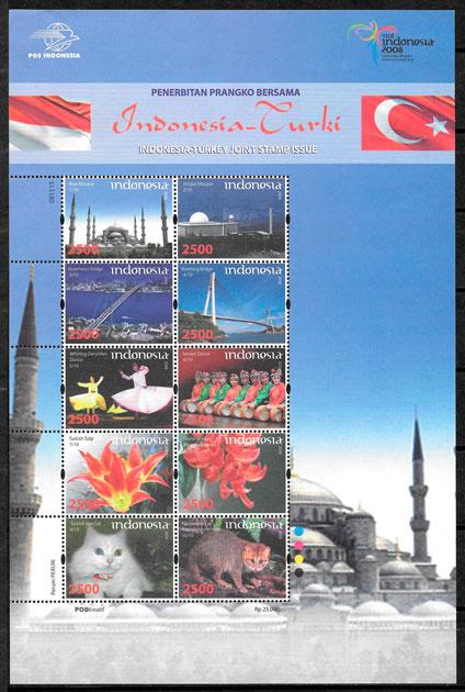filatelia emisiones conjunta Indonesia 2008