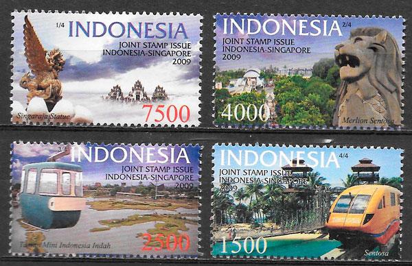 filatelia colección emisiones conjunta Indonesia 2009