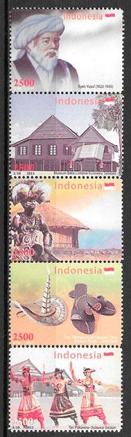 colección sellos emiones conjunta Indonesia 2011