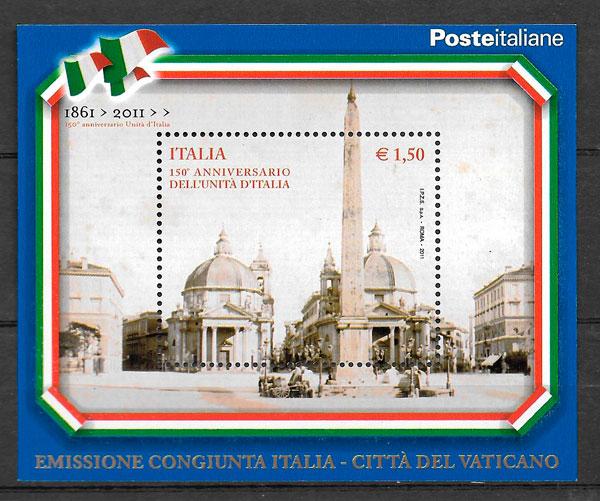 colección sellos emisiones conjunta Italia 2011