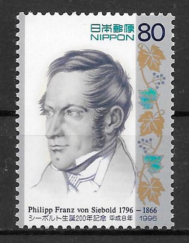 colección sellos emisiones conjunta Japón