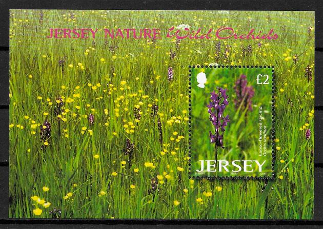 colección sellos orquídeas JERSEY 2003