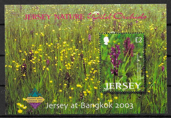 filatelia orquídeas Jersey 2003