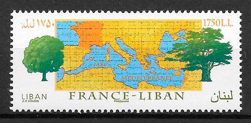 sellos emisiones conjuntas Libano 2008