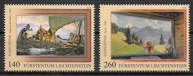 sellos emisiones conjunta Liechtenstein 2013