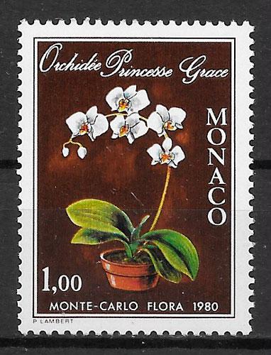 filatelia orquídeas Mónaco 1979